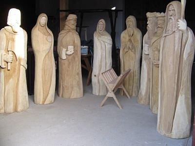 Chanovický betlém, který je dílem Ivana Šmída, si mohou návštěvníci obce prohlédnout od této soboty ve vstupní usedlosti skanzenu.
