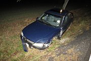Nehoda dvou vozidel u Bojanovic.
