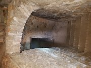 Podzemí starého czerninského zámku v Chudenicích