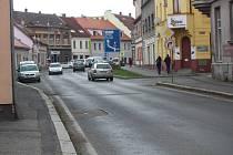 Ulice T. G. Masaryka v Sušici, která se dočká kompletní opravy.