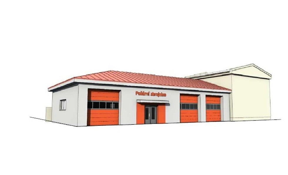 Technika vizualizace nové hasičské zbrojnice v Rabí.