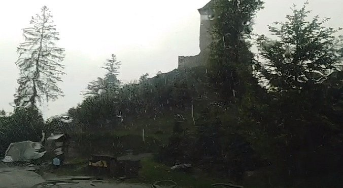 Bouřka na Kašperku.