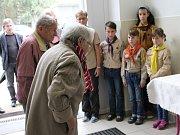 Pietní akt k 80. výročí úmrtí T. G. Masaryka v Klatovech na Masarykově základní škole v Klatovech.
