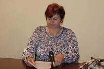 Obžalovaná Monika Ernestová u soudu.