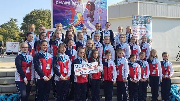 Mažoretky Modern Klatovy na mistrovství Evropy v Poreči.