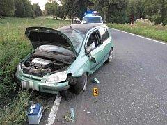 Nehoda u Rejštejna, při které se zranily tři ženy.