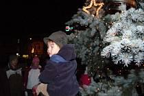 Rozsvícení vánočního stromu na klatovském náměstí