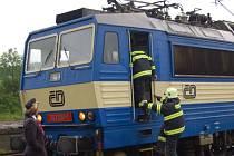 Požár vlaku ve Švihově