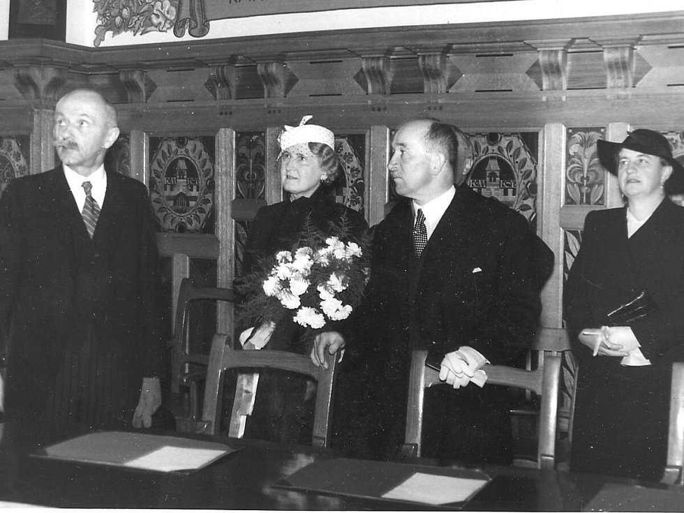 Prezident Edvard Beneš s chotí