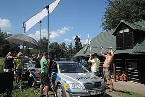 Natáčení třetí řady Policie Modrava na Šumavě.
