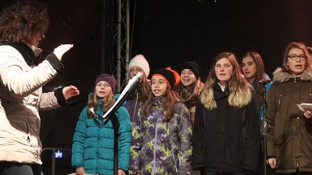 Česko zpívá koledy v Klatovech 2016.