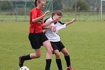 Letní dívčí amatérská fotbalová liga Kobra Bolešiny B (č) - Vodnice KH Kinetic Klatovy 2:1.