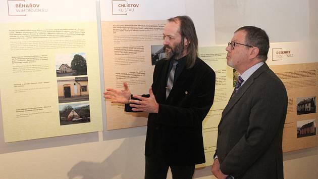 Vernisáž výstavy Masaryk a Svatá země v Muzeu Dr. Šimona Adlera v Dobré Vodě na Hartmanicku.