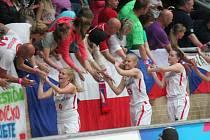 Osmifinále MS v basketbal žen U17 v Klatovech: Česká republika - Itálie 61:57.