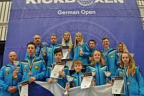 Úspěšná výprava kickboxerů Hammer´s Gym získala na German Open 2016 pět zlatých, čtyři stříbrné a pět bronzových medailí