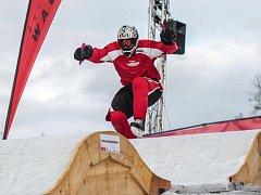 Václav Kosnar na závodě Riders Cupu v Ice Cross Downhillu v Rakousku