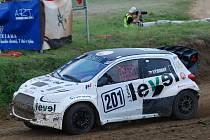 Otakar Výborný s Mitsubishi Mirage bojoval ve Francii o titul mistra Evropy do poslední jízdy. Snímek je ze závodu v Přerově.