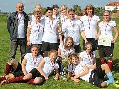 Dívčí amatérská fotbalová liga v malé kopané 2017: Slavnostní vyhlášení výsledků. Foto: Yvetta Chmelová
