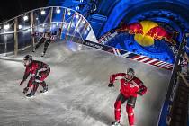 Václav Kosnar z Klatov při závodě série Red Bull Crashed Ice 2017 v americkém Saint Paul
