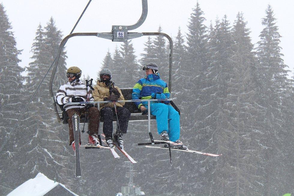 Víkendové lyžování zpestřené účastí herce Jana Antonína Duchoslava.