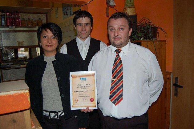 Slavnostní předání ocenění Hospůdka roku 2010 čtenářů Klatovského deníku Wellnes relax areálu Hnačov