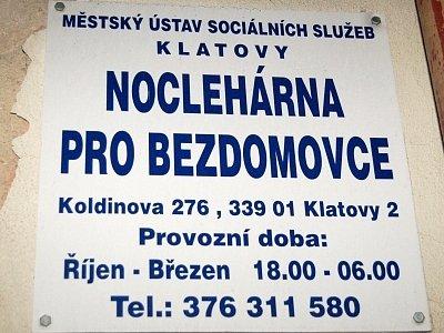 Klatovská noclehárna pro bezdomovce