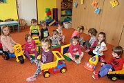 Dvouleté děti v MŠ Horažďovice Na Paloučku.