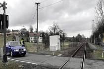 Policejní akce na železnicích.