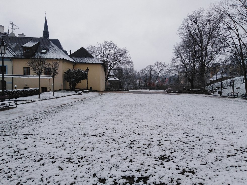 Sníh na Klatovsku 19. března.