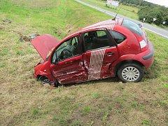 Dopravní nehoda u Soustova na Klatovsku.