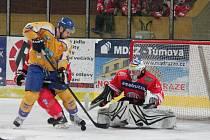 5. zápas čtvrtfinále play off Klatovy - Klášterec 2:3 PP.