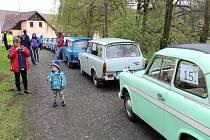 Sraz AMK Trabant Plzeň k 50. výročí klubu, jízda zručnosti v Běšinech