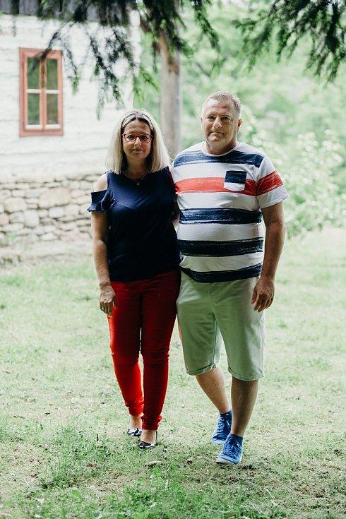 Miroslav Rambousek se svou milující přítelkyní.