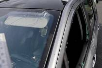 Vozidlo, které poškodil řidič z Plzně motoristce ze Strakonicka poté, co ho předjela.