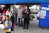 Předvolební mítink ODS na náměstí Míru v Klatovech