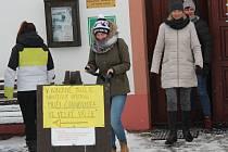 Pochod proti úložišti v Chanovicích.