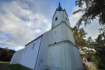 Nápisy na kostele v Janovicích nad Úhlavou.