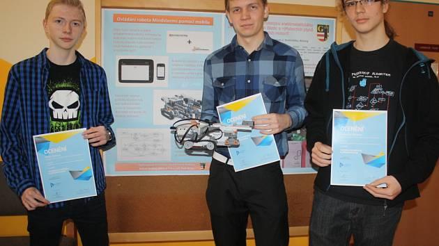 Petr Šíma, Michal Převrátil a Adam Krátký (zleva).