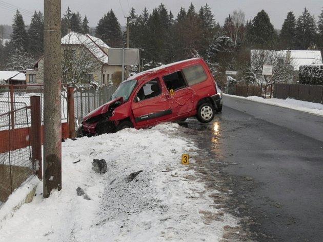 Nehoda ve Volšovech.