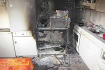 Požár bytu v Nýrsku