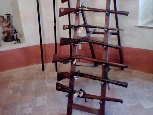 Zbrojnice na zámku v Chudenicích.