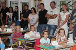 Přivítání v prvních třídách v ZŠ Klatovy, Čapkova.