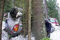 Nedělní nehoda pod špičáckým sedlem