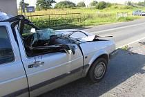 Dopravní nehoda u Dolní Lhoty