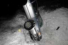 Nehoda u Dobré Vody, při níž se zranili tři lidé.