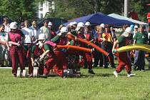 Okresní soutěž hasičů v Dlouhé Vsi