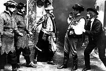 Klatovští ochotníci na přelomu 19. a 20. století.