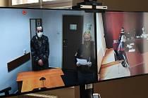 Soud se Slovákem Peterem V. se v listopadu konal pomocí videopřenosu mezi plzeňskou věznici a klatovských soudem.