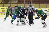 Šumavská liga amatérského hokeje 2017/2018: Poběžovice (černé dresy) - Tomahawks 1:3