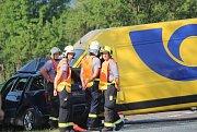 Tragická dopravní nehoda u Petrovic nad Úhlavou.